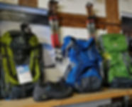 Outdoor and hiking equipment at Andy's