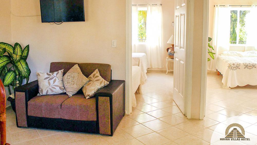 Mayan Villa: Living Room