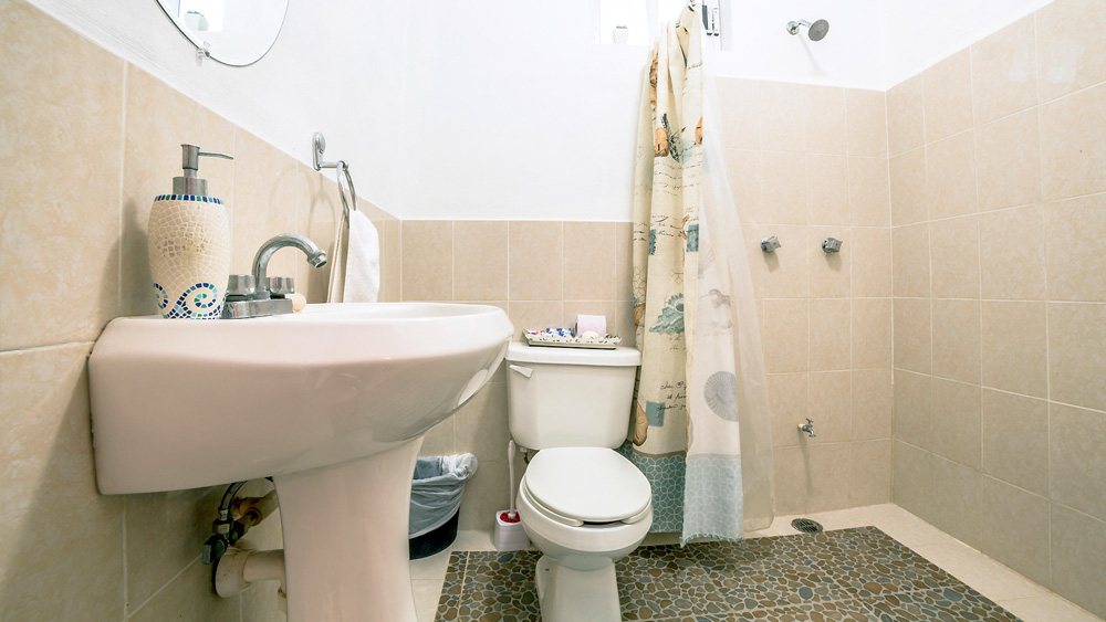 Mayan Villa: Bathroom