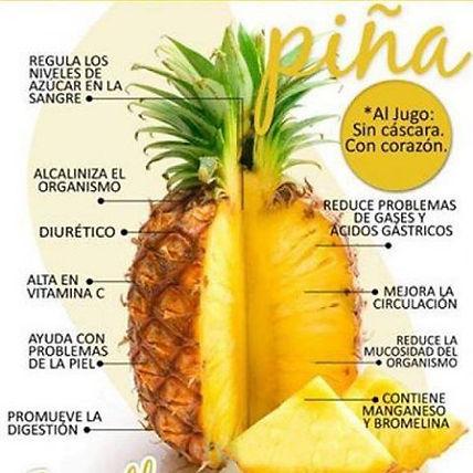 Beneficios de la piña._www.rubenentrenad