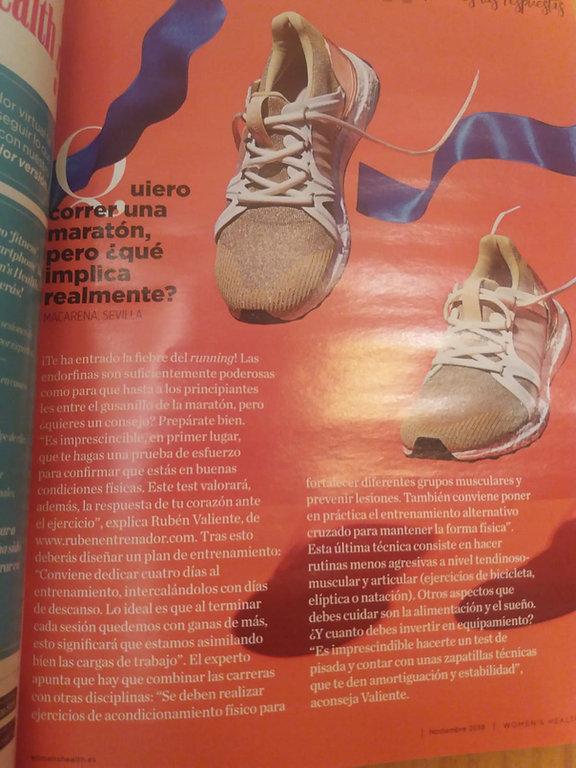 Artículo sobre #martón por rubenentenador publicado en revista Women Health