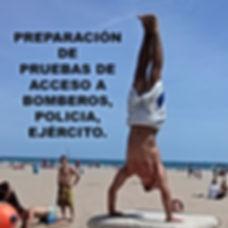 Preparador Físico pruebas en Valencia