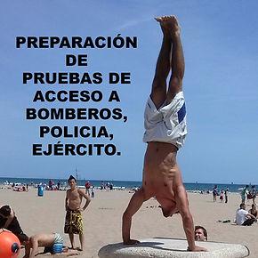 Preparador de pruebas físicas para ingreso en cuerpos de bomberos, policía, ejército, oposiciones