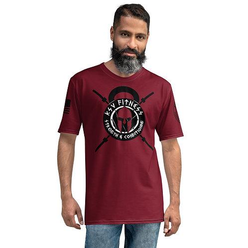 Men's T-shirt KSV Dark Red Logo2