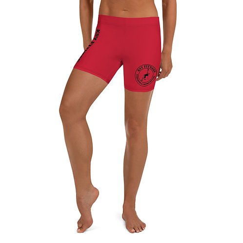 Ladie's KSV Fitness Shorts Red