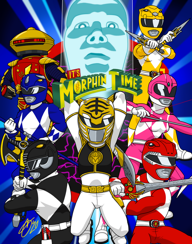 It's Morphin Time (White)