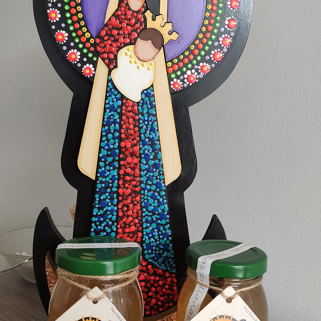 Adorno de la Virgen de Chiquinquirá, patrona de Maracaibo, Edo Zulia.