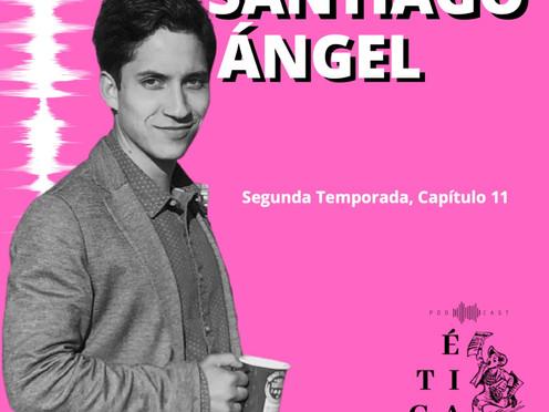 Santiago Ángel en el último capítulo de Ética para muckrakers