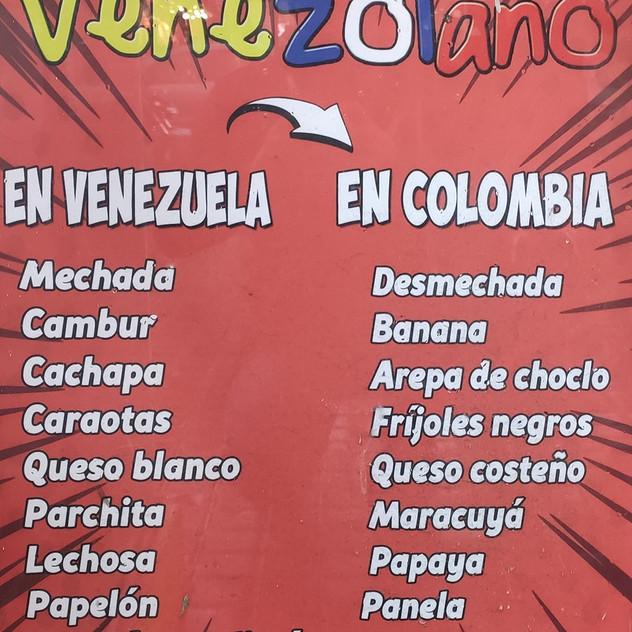 Palabras típicas que usan los venezolanos en comparación con la jerga colombiana.