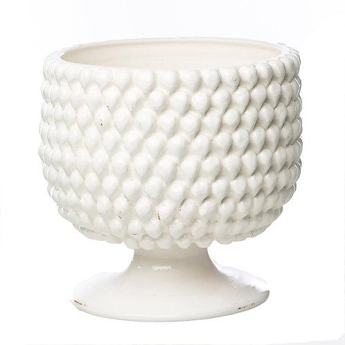 Vinci White Ceramic Planter, LARGE