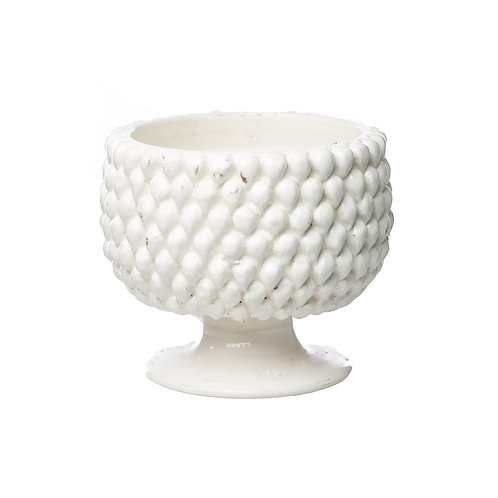 Vinci White Ceramic Planter, SMALL