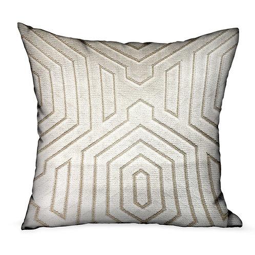 Pearly Velvet Gray Geometric Luxury Throw Pillow