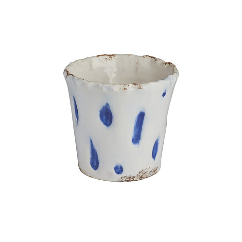 Aegean Cachepot w/Blue Dots SMALL