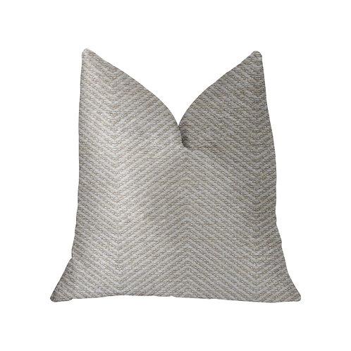 Plainville Beige Luxury Throw Pillow