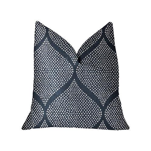 Pitaya Blue and White Luxury Throw Pillow