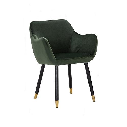 Ailin Dining Armchair - Olive Velvet