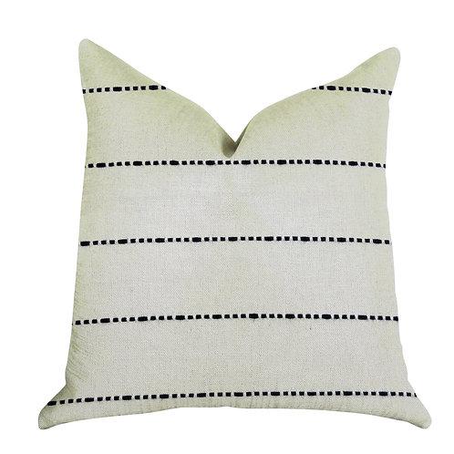 Interweave Vanilla Bean Luxury Throw Pillow in Black and White