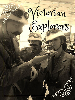 Victorian Explorers, street theatre, www.earthboundmisfits.co.uk