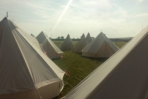 5 Metre Bell Tent Furnished price inc £100 deposit