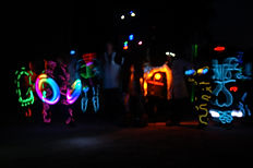 Earth Bound Misfits LED uv Juggling light show