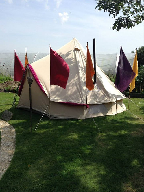 4 Metre Bell Tent Furnished price inc £100 deposit