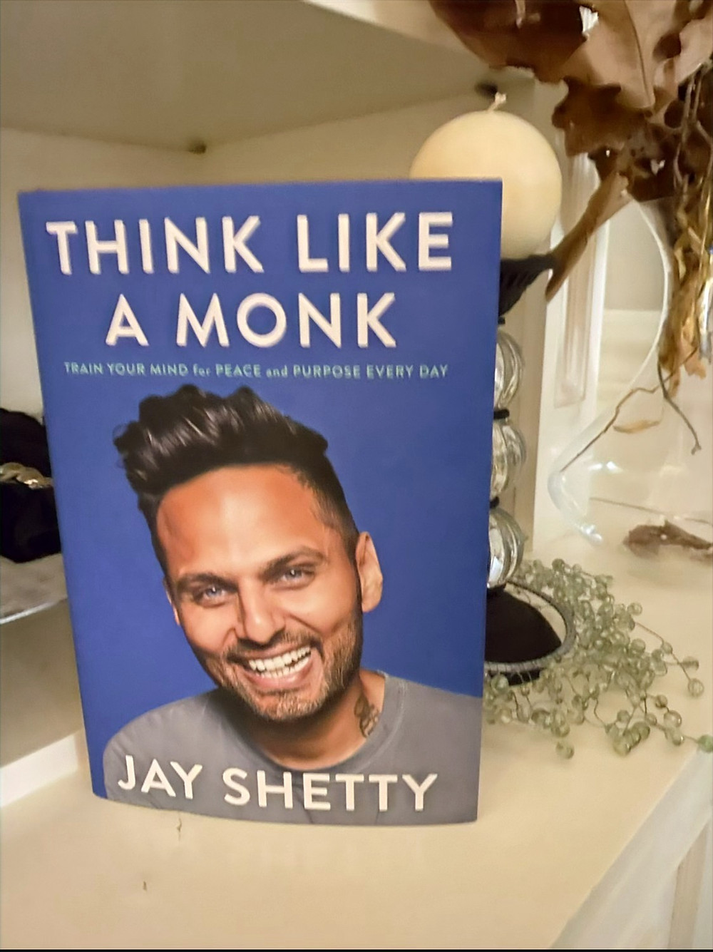Self help book: Think Like a Monk by Jay Shetty