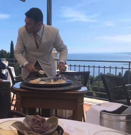 Lunch at Belmond Grand Hotel, Taormina, Sicily