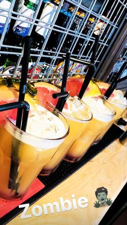Cocktails in Sound-Garden Bar