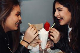 Sisters at Mel's Diner