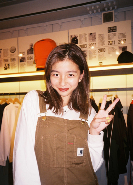 bae at the Shinjuku Carhartt