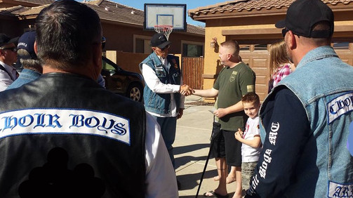 AZ Pinetop Officer Hummer Shot on Duty- Donation from Arizona Choir Boys LEMC