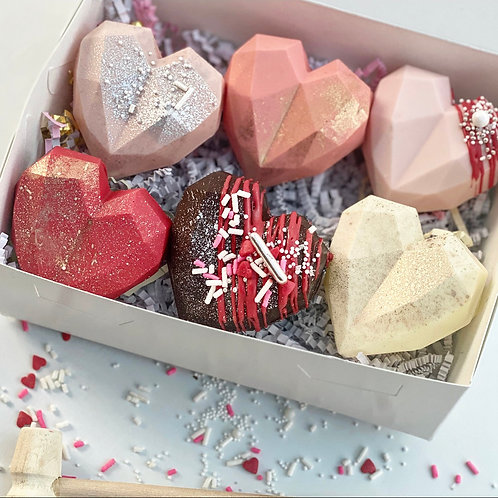 Geometric Heart Surprises - 6 pack