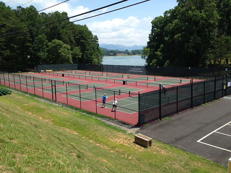 Beautiful Mountain Pickleball Courts