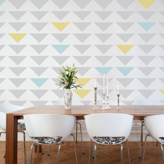 Ouse na decoração com estêncil de parede