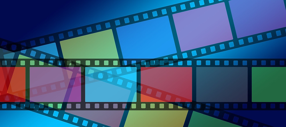 image of colorful rolls of film