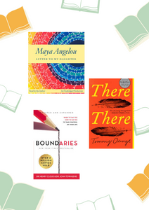 Image of book covers for Letter to My Daughter, There There and Boundaries