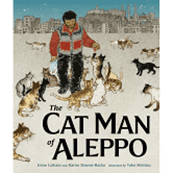 """book cover for """"the cat man of aleppo"""""""
