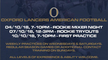 Join the Oxford American Football Team and You Can Lead the Charge!!