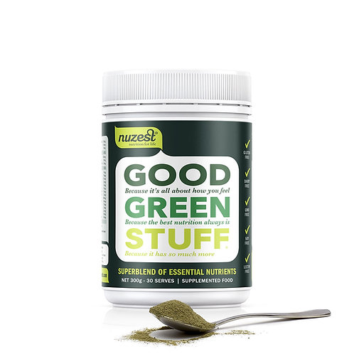 Nuzest Good Green Stuff - The Ultimate Nutrient Boost.  Size 300 grams