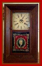 Seth Thomas – 30-hour movement - Andrew Jackson reverse painted glass - Custom Walnut Wood Case Shelf Clock - (circa 1850s)