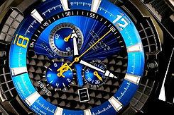 Renato - Mostro 55MOG-B Swiss Quartz Chronograph Blue Dial 990 Feet Depth Divers Steel Bracelet Hand Made Wristwatch (circa 2013)