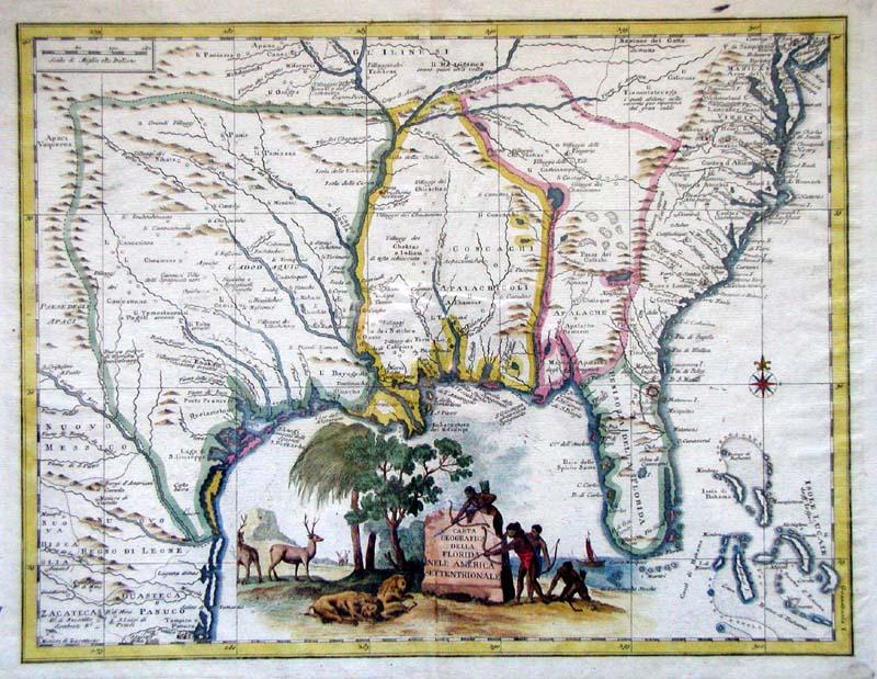 Guillaume_Lalsle._Carta_Geographical_della_Florida_nell_America_Settentrionale._1750