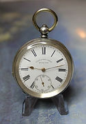 Henry E. Peck (London) – Swiss Made - Key Wind and Key Set - Sterling Silver 0.935 – Open Face Case Pocket Watch - (circa 1895)