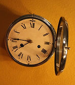English Ships Bells Clock - 8-Day Movement - Stainless Steel Case - (circa 1960s)