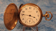 Ball Watch Company - Yellow Gold Filled Hunters Case - 16 Size - Pocket Watch -(circa 1899)