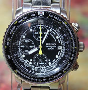 Seiko - 7T62-OEB0 - Flightmaster Chronograph Stainless Steel Pilot Wristwatch - (circa 2010)