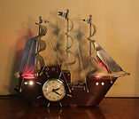 United - Electric Masked Ship Clock with Lighted  Deck and Port Holes - (circa 1940s)