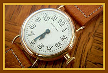 American Waltham – Very Early Wristwatch - Genuine Wire Lug 14K Solid Gold Case - 15 Jewel Mechanical Movement – (Circa 1914)