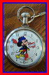 Bradley - Walt Disney Productions - Mickey Mouse Bicentennial - Pocket Watch - (circa 1976)