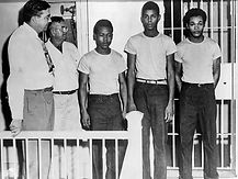 Groveland Four - Walter Irvin, Charles Greenlee, Samuel Shephard in Lake County Jail - 1949